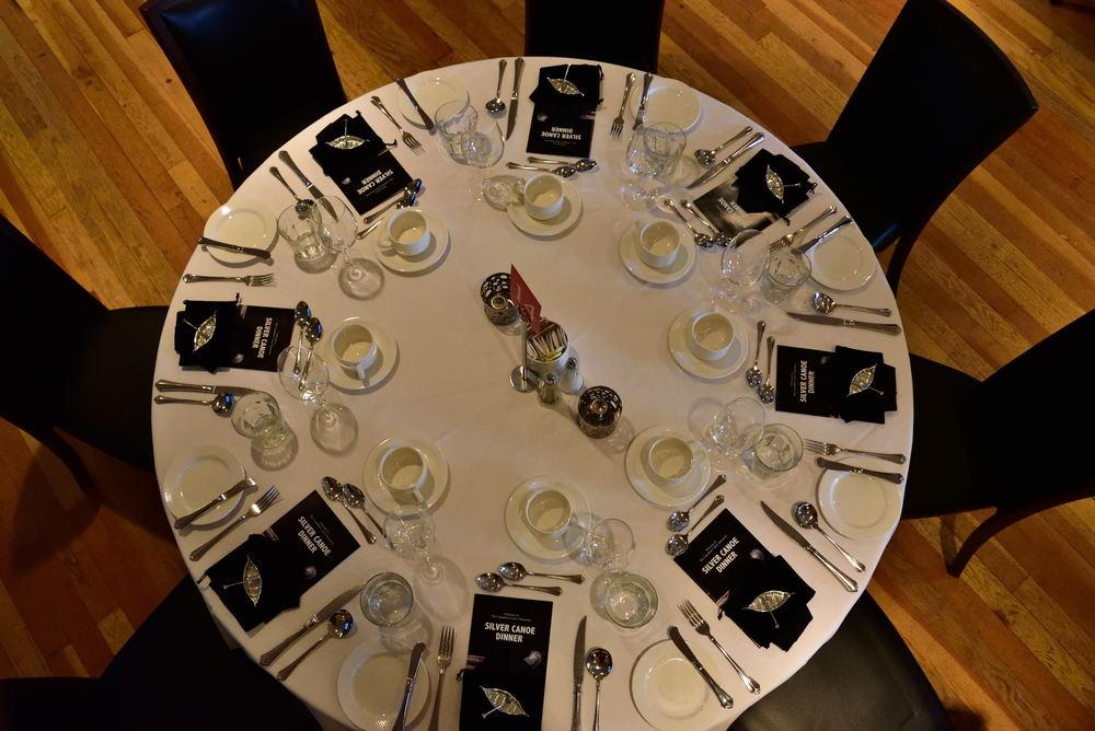The beautiful table setting!