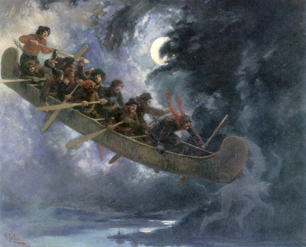 Christine Donkin, is writing a work inspired by the famous Quebecois folktale, La Chasse Galerie, the Flying Canoe. The word premier of this work will be happening at the gala concert on February 4th