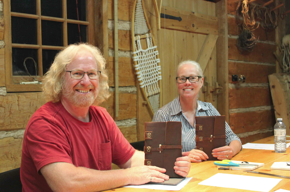 Leather-bound journal workshop