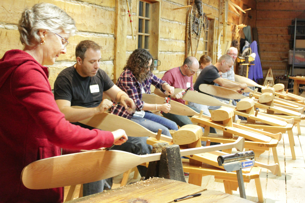 Canoe paddle carving workshop