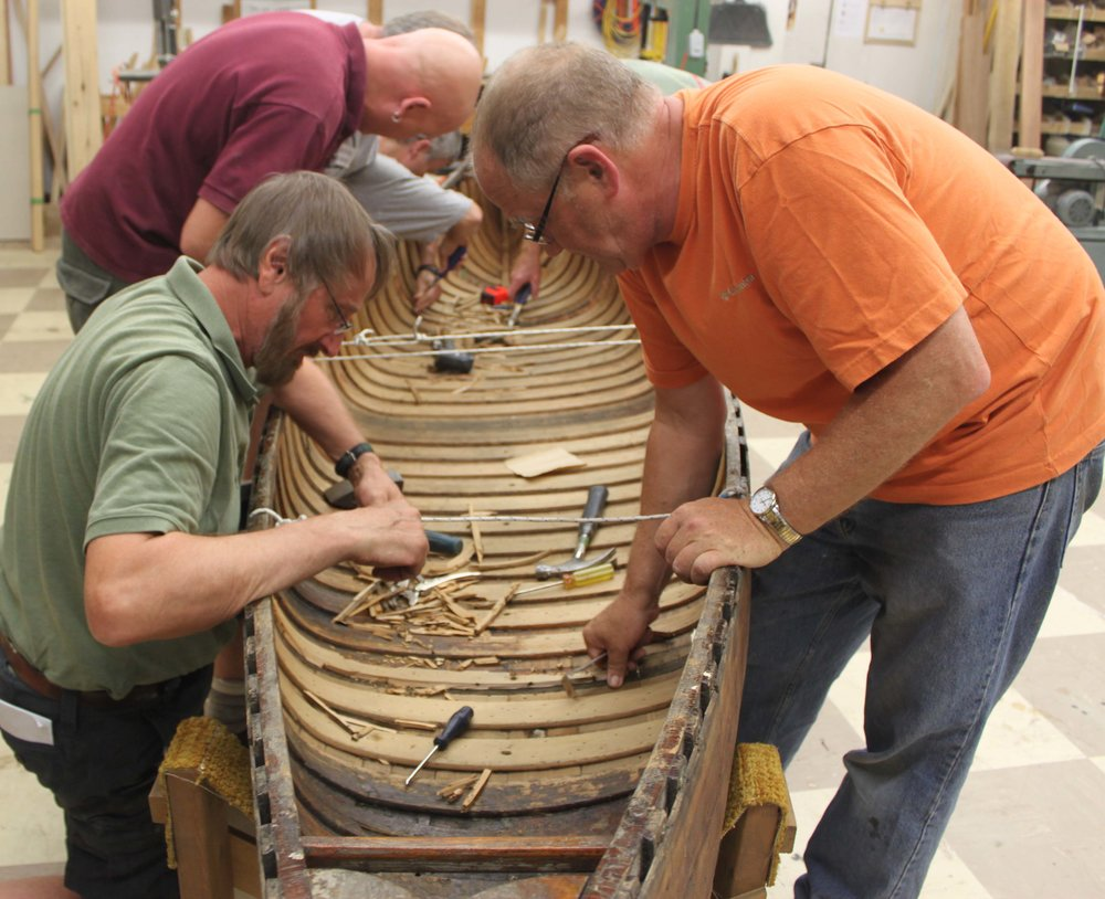 Canoe restoration workshop