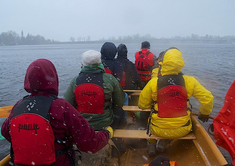 There's nothing like a spring snow/hail storm to sharpen the mind and focus the senses when you're paddling!