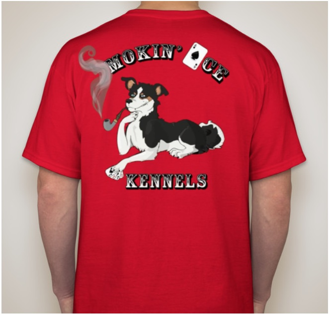 Original 8 SAK T - Our Iconic Smokin' Ace Logo of our Poker Dog, Keeper!
