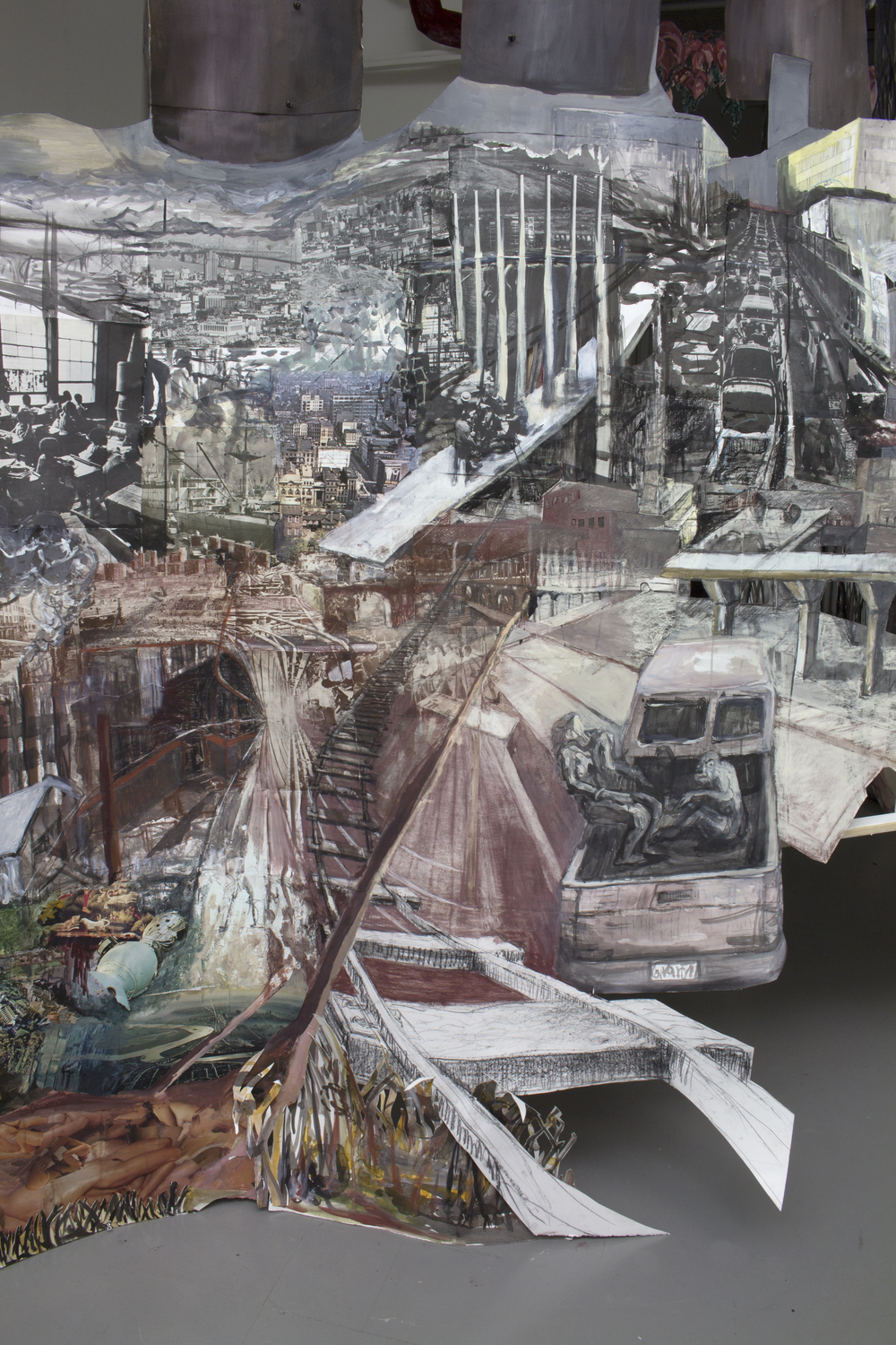 Collective history gets swallowed by leviathan dreamscapes