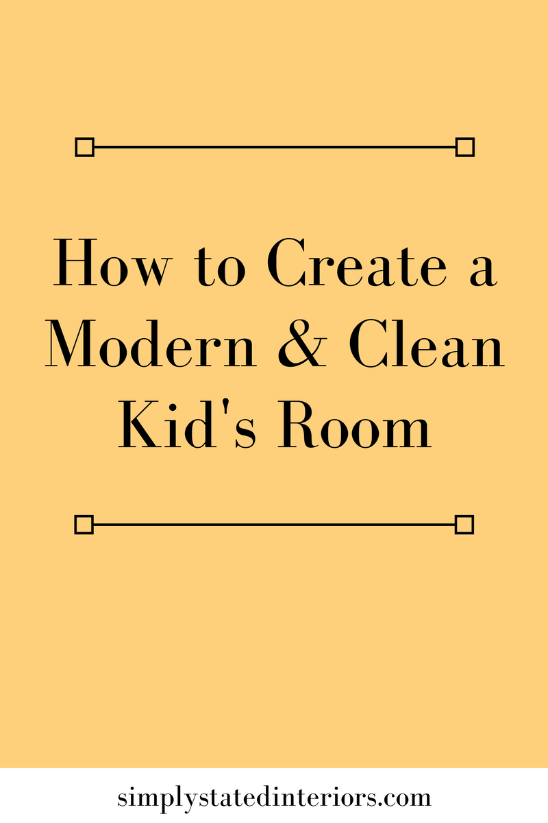 interior design minimal kids room