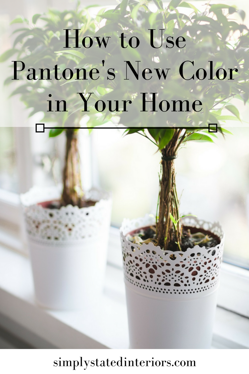 Pantone Color of theh Year Greenery home decor