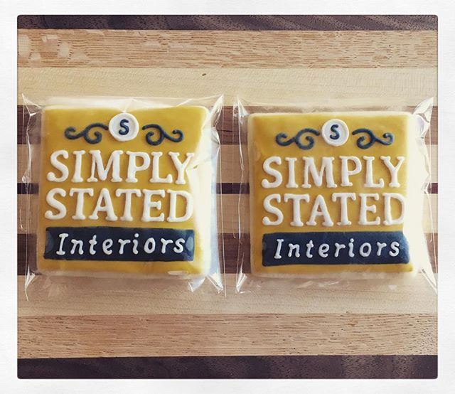 I did not know just how much I NEEDED my logo as cookie until I found @prettykillercookies!  These are amazing and were a huge hit at my client's kitchen reveal party last night!! #cookielove #simplystatedinteriors