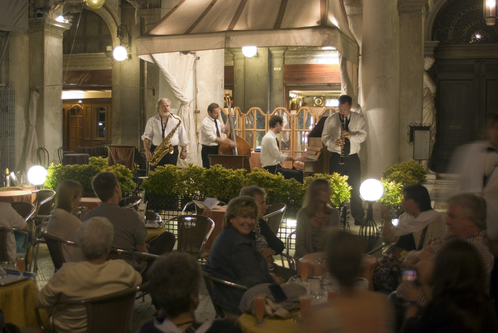 Music adds a completely new and interesting element to the dining experience.