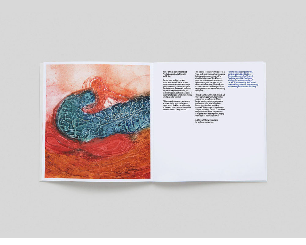 art through therapy brochure brand design
