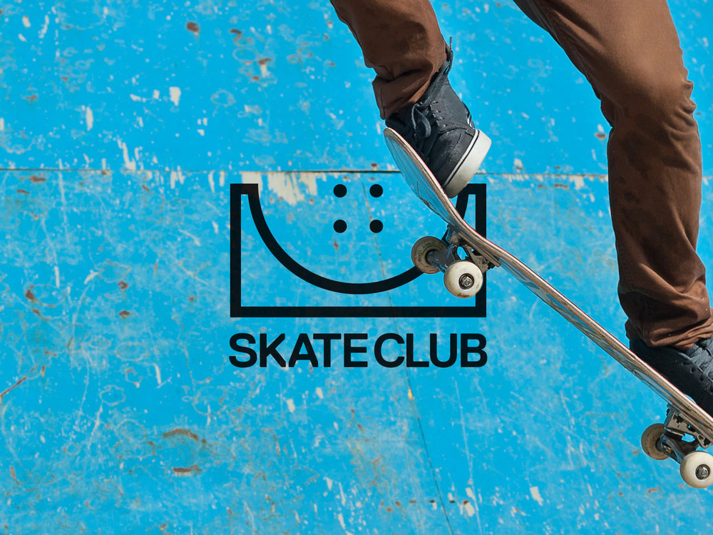 skate club logo design