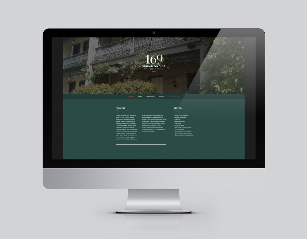 169 drummond street website and branding design