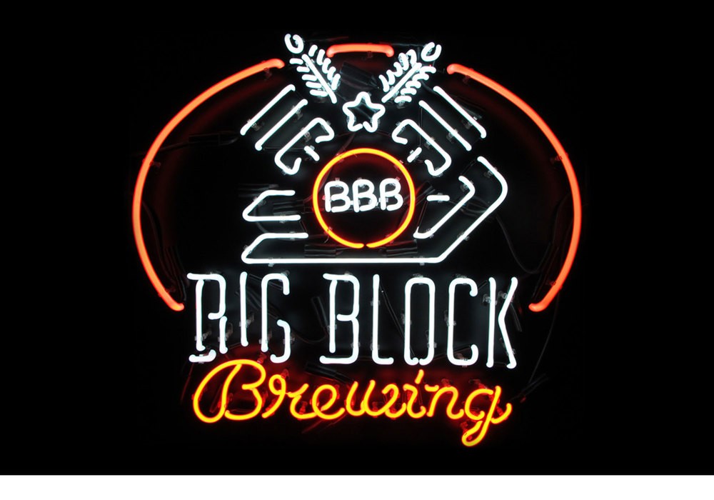 Big Block Brewing neon sign