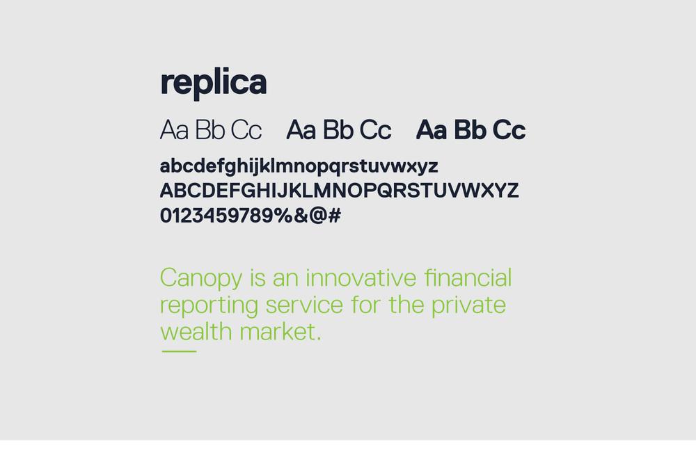 canopy typography