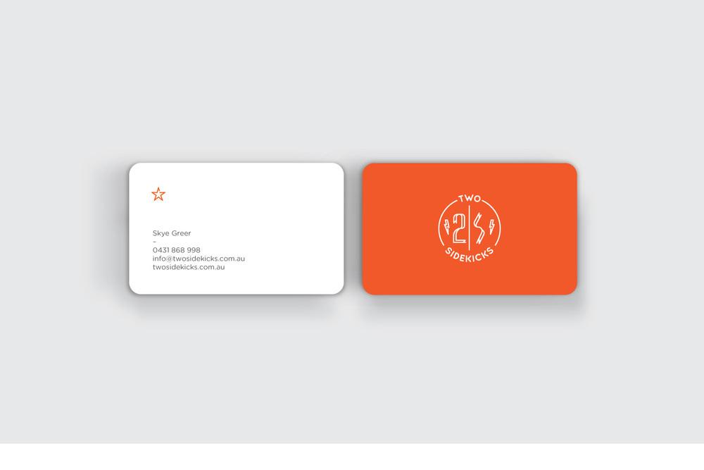 two sidekicks business cards