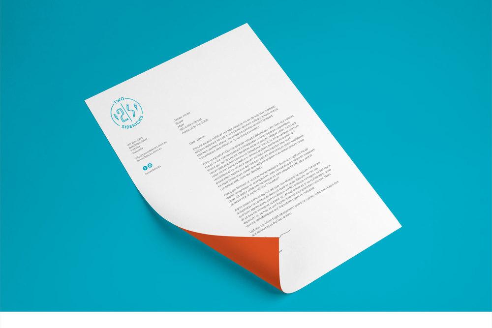 two sidekicks letterhead