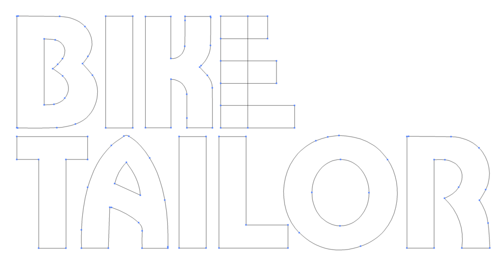 Bike Tailor custom typography and alphabet design