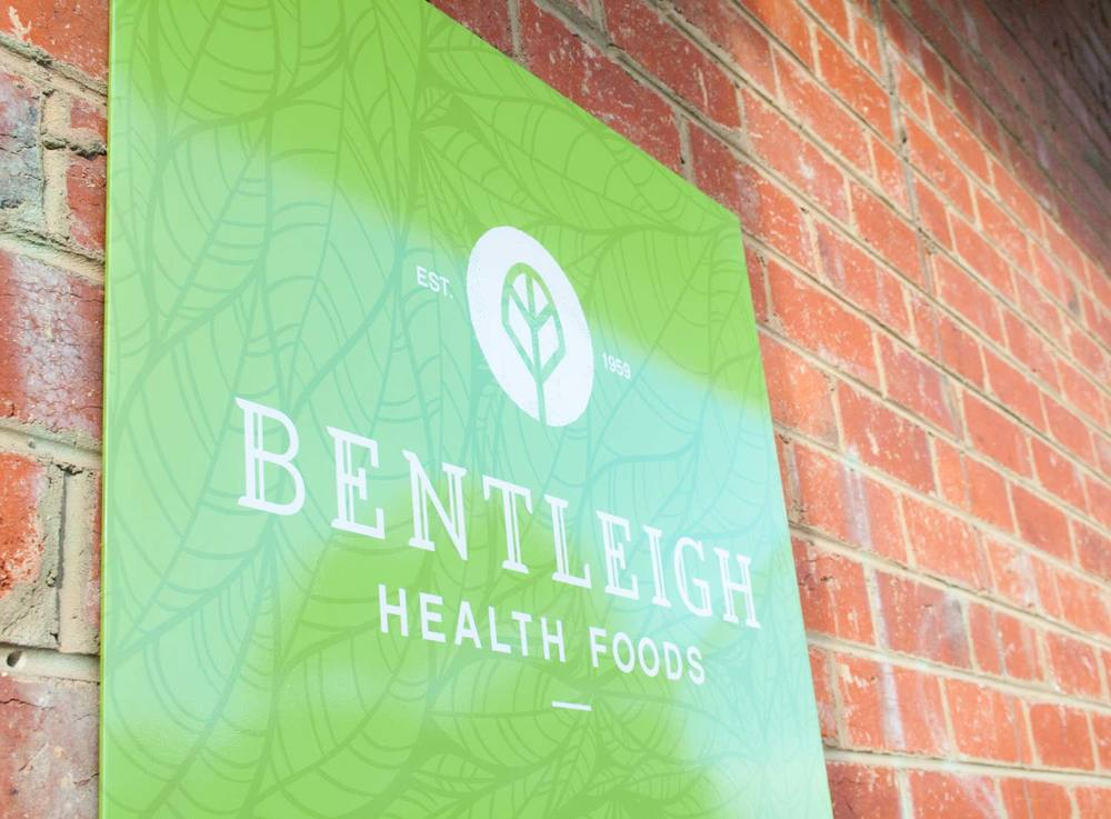 Bentleigh Health Foods signage at rear