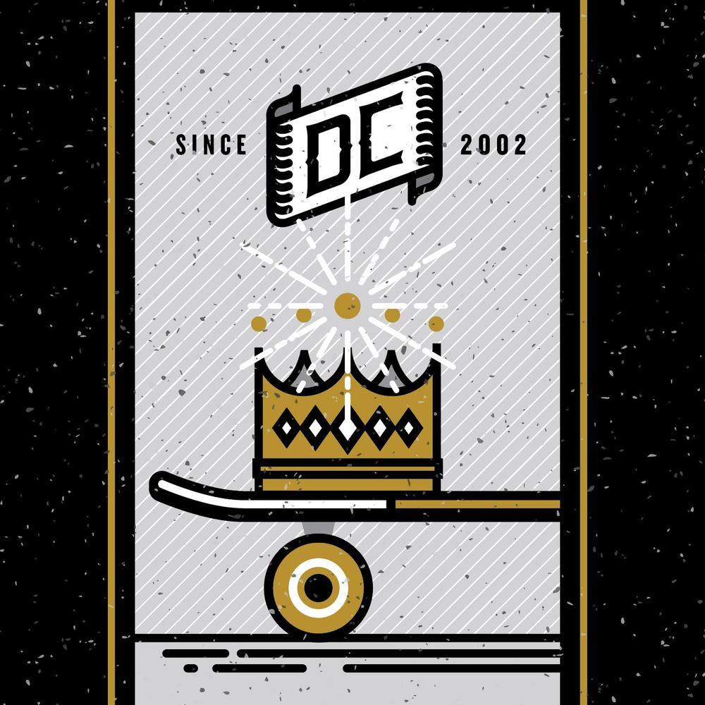 dc coffee the duke illustration - skate board