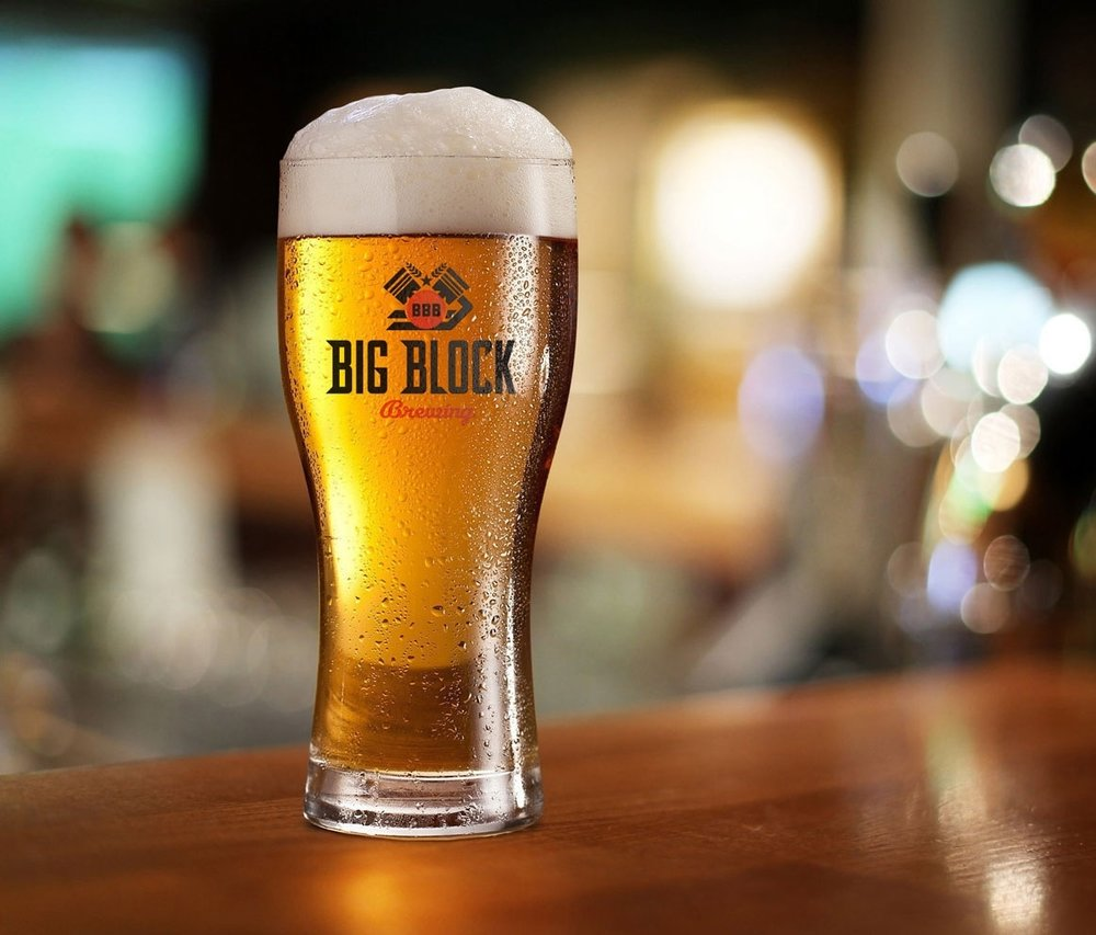 Big Block Brewing glass