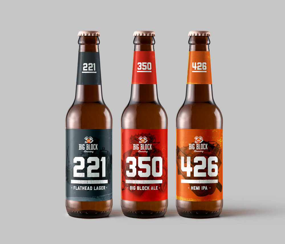 Big Block Brewing labels