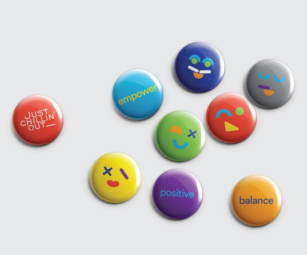 Just Chillin Out Buttons