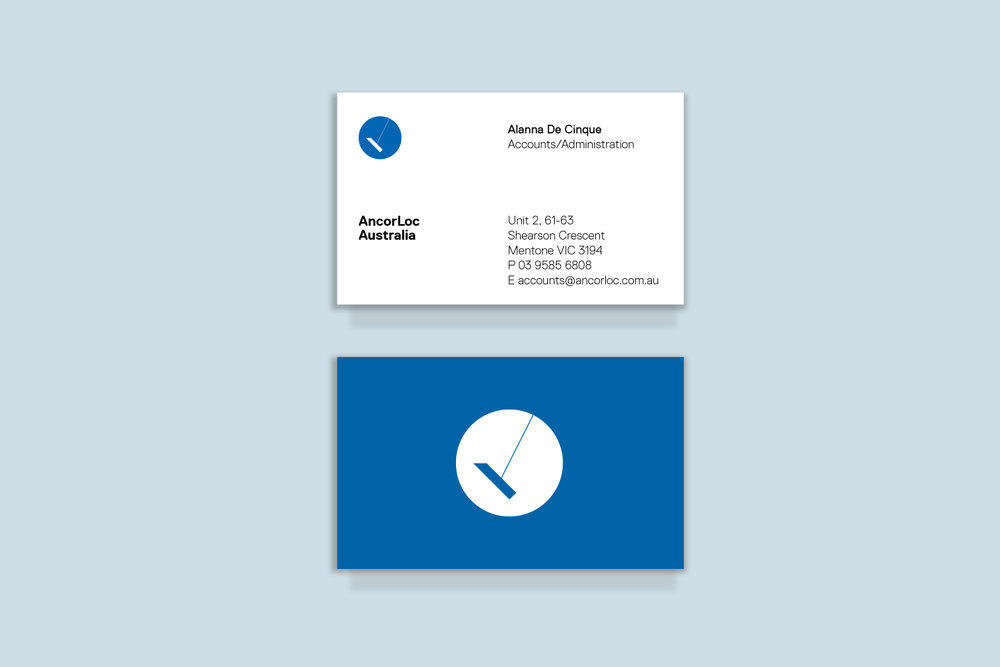 AcorLoc Logo design, clean and simple business cards