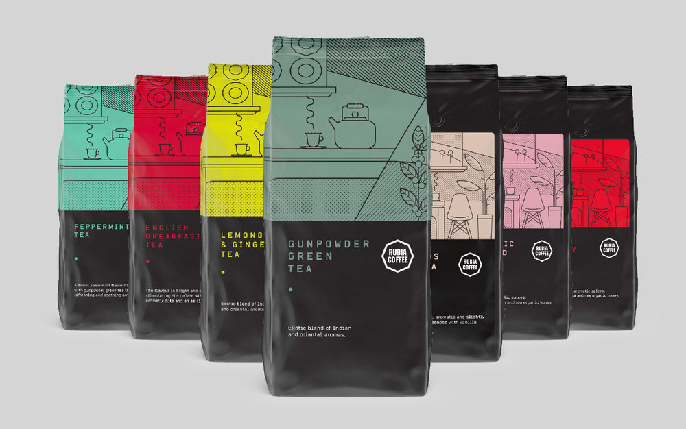 Rubia Tea Chai and chocolate Graphic design melbourne branding melbourne branding design packaging design melbourne design studio melbourne graphic design