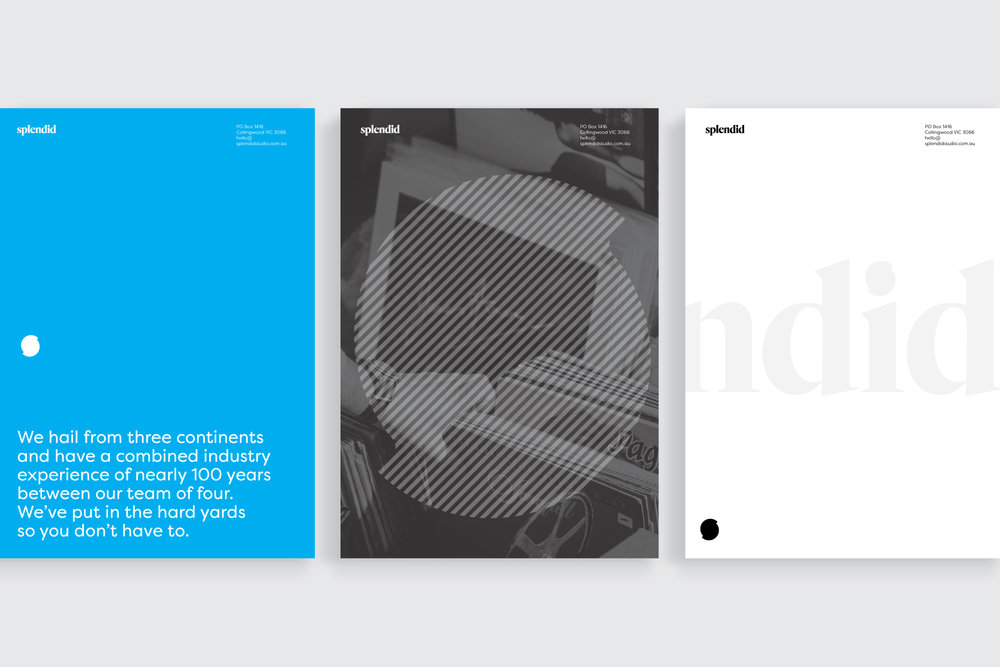 Splendid Studio collateral design