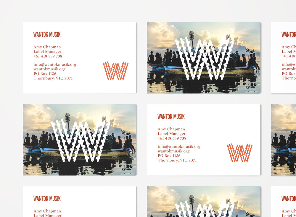 Wantok Musik collateral - branding project by created by south