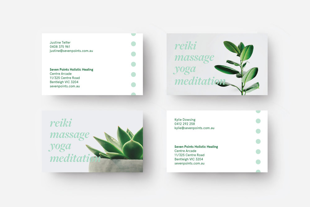Seven Points business cards, branding melbourne, melbourne branding design