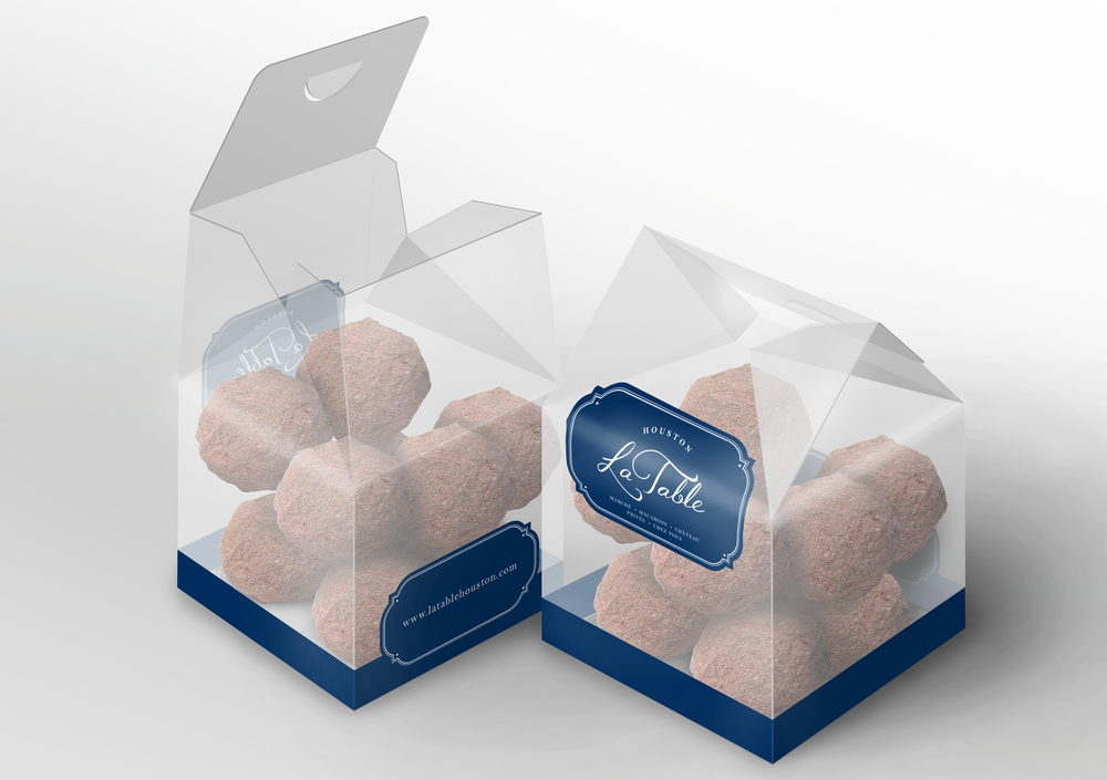 A Photoshop rendering of my favourite, a collapsible PET truffle box