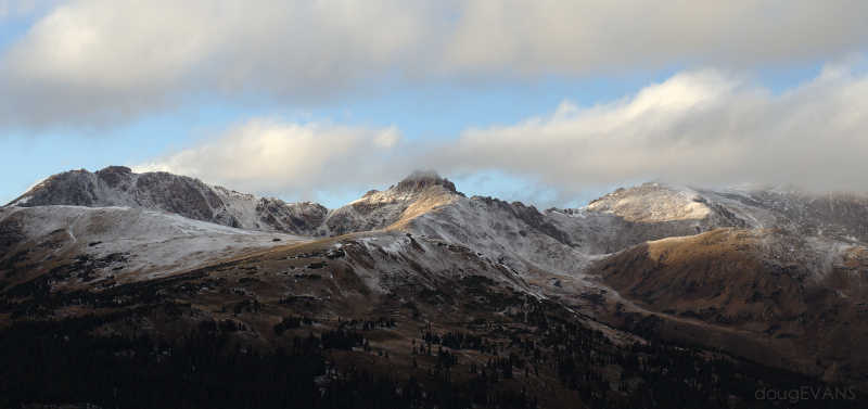 The south faces of Hagar, Citadel, Pettingel and Trelease with a late-October dusting of snow.
