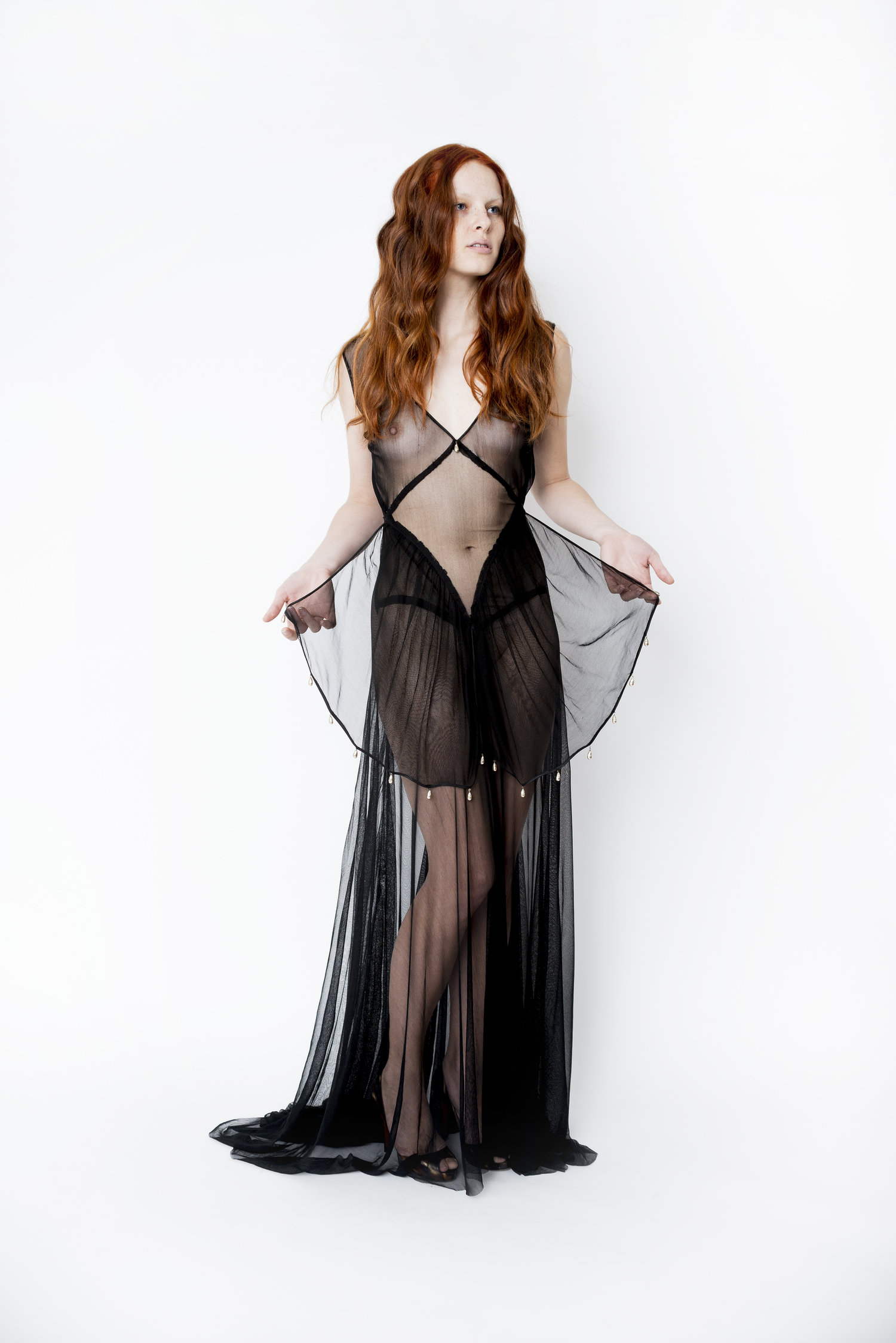 Joyeuse Silk Net Evening Gown — Nicol & Ford