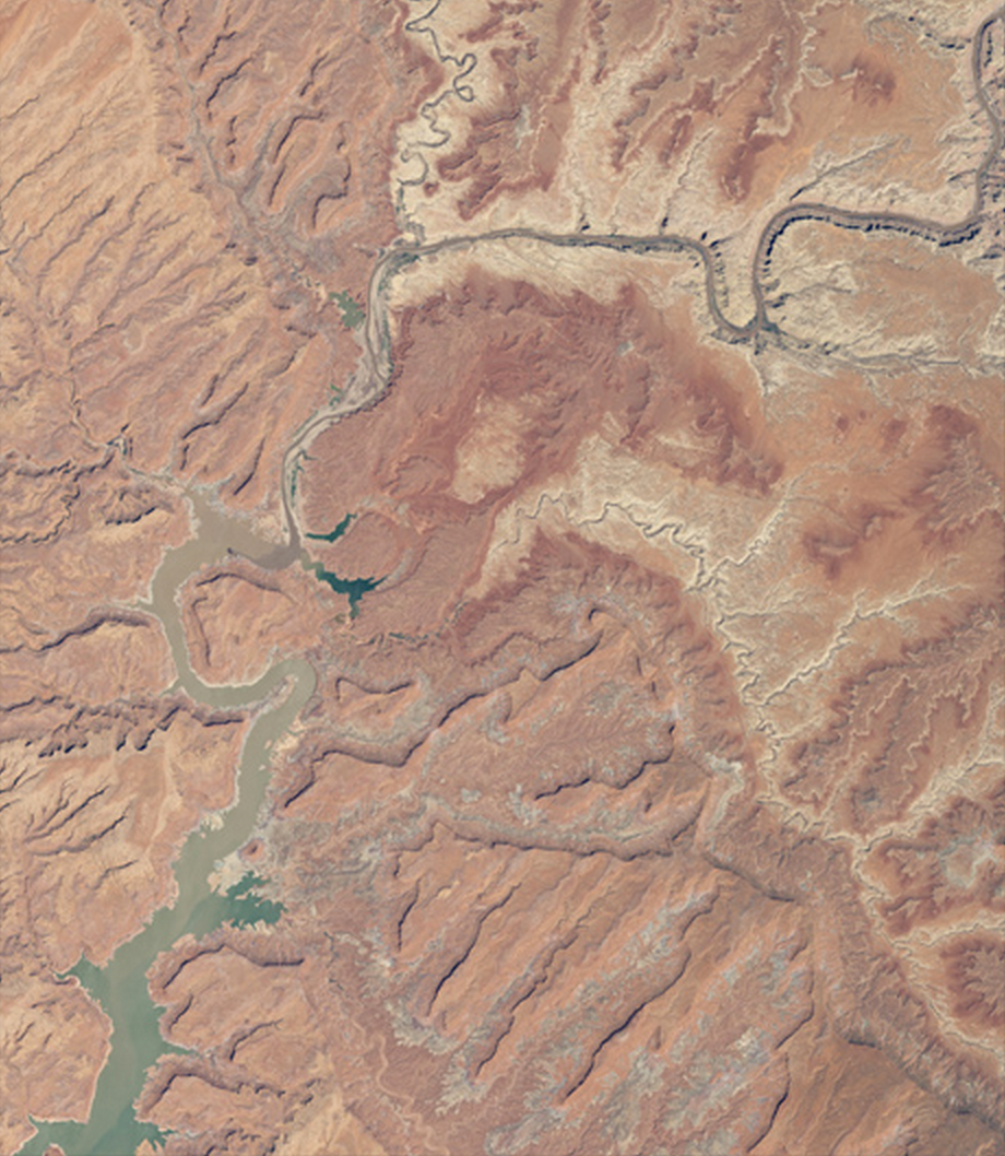 Lake Powell, 2014                                                                            NASA