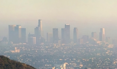 Smog  contaminates  the air over Los Angeles.