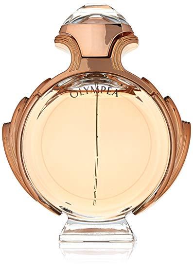 PACO RABANNE OLYMPEA  $59.99   Jasmine, Ginger, Orange, Salt, Vanilla, Cashmere Wood, Amber, Sandalwood