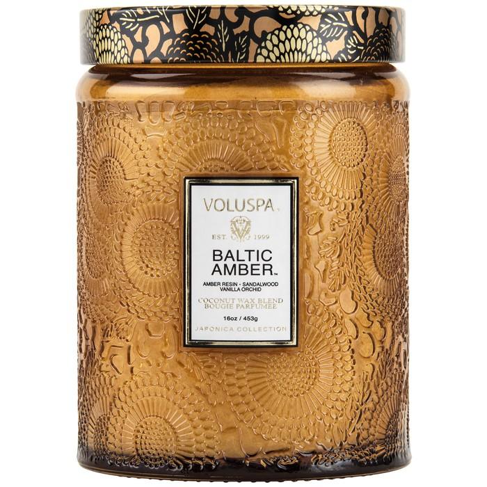 VOLUSPA BALTIC AMBER  $28.00   Amber Resin, Sandalwood, Vanilla Orchid