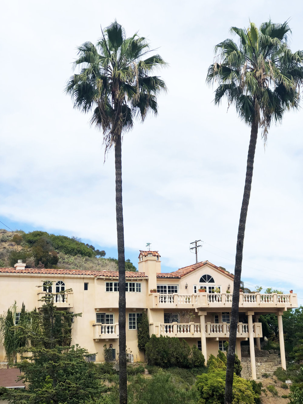 One of the beautiful homes on the island