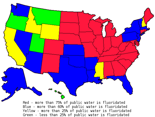 Fluoridated water in the united states