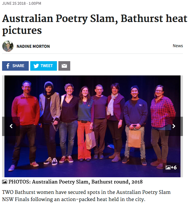 Australian Poetry Slam 2018 Bathurst Heat
