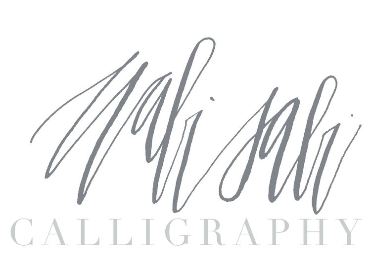 Wabi sabi calligraphy brush lettering