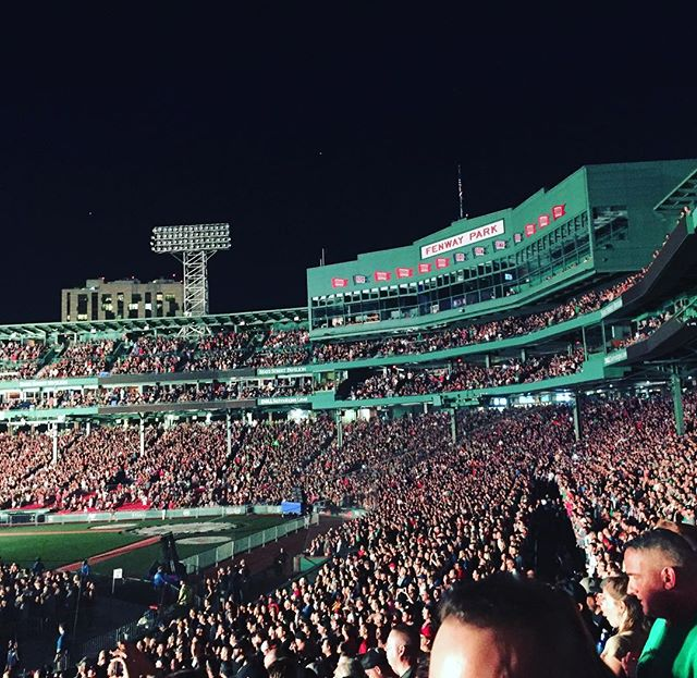 Pearl Jam. Favorite band. Sweet end to the summer. #fenwayrocks