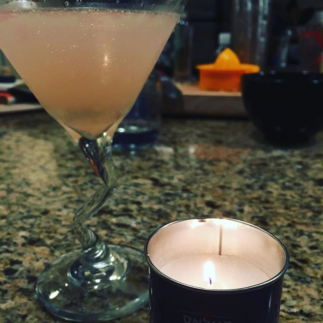 The special winter grapefruit drink that Mike used to make for me. Took me four times to get it right. Lighting a candle for him tonight. Feeling the sadness of him not here with us now  and also the gratitude that I got to love him for the time we had together. #snuggleyourpeopletonight #mikesentme