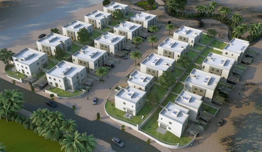 3D Aerial Rendering of Residential Development
