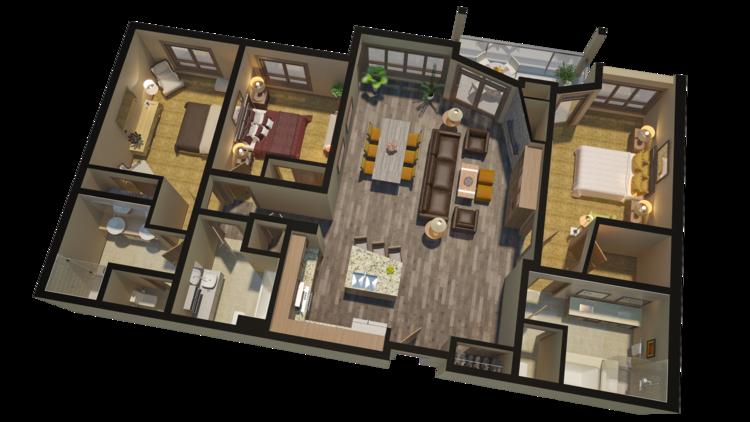 Selling High End Real Estate With 3D Floorplans Renderings