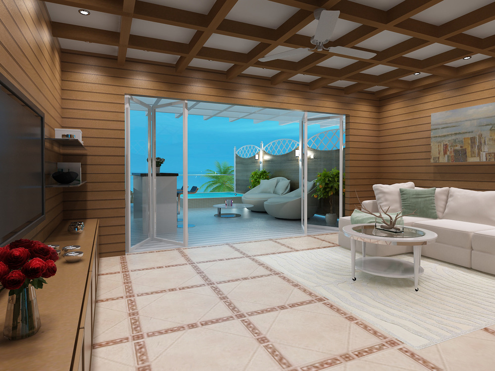 Turtle Cove - 3D Rendering of Interior Suite