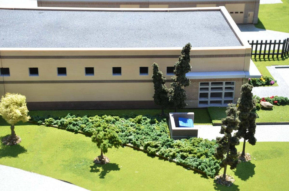 Design for a school printed in 3d. Check out the details!