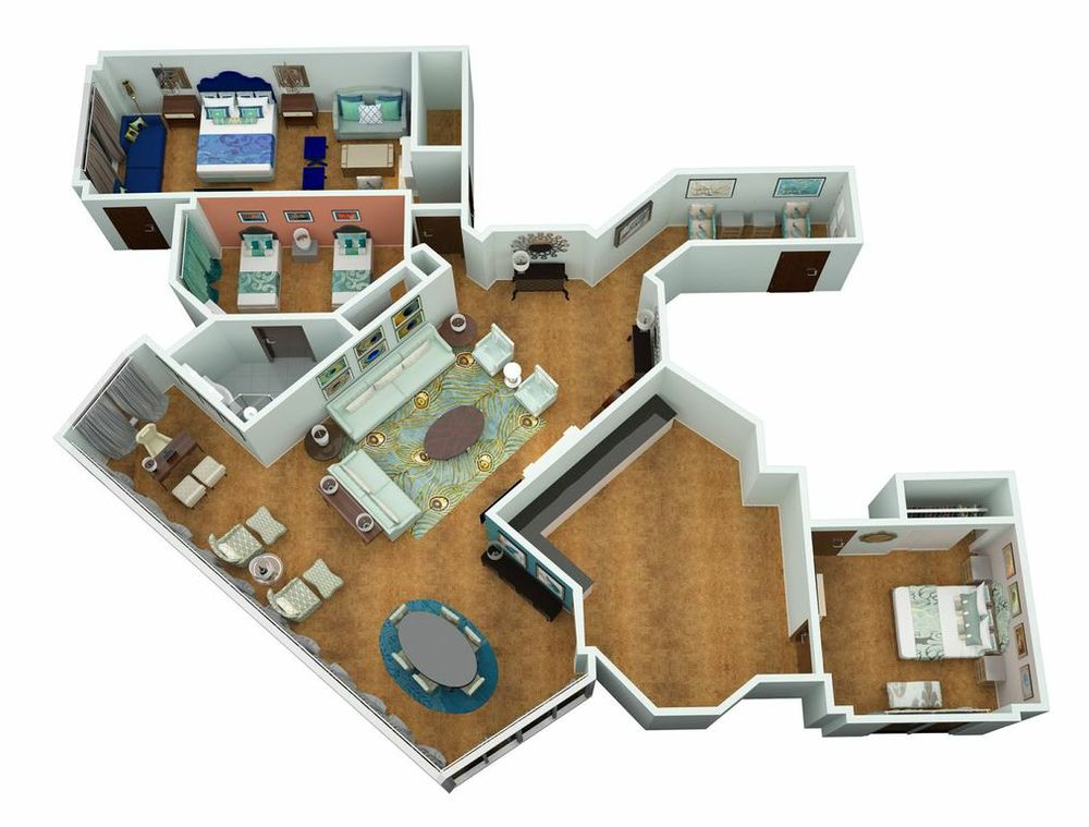 3d floor plans and layout renderings for 3d floor plan