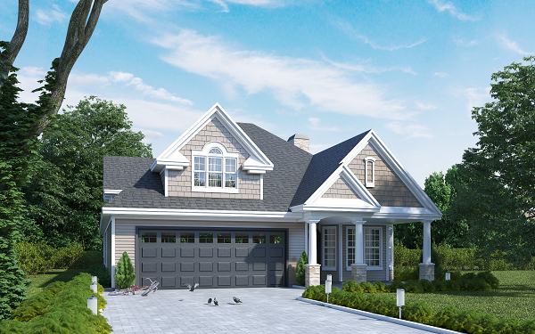 If there's something we love, it's clients that pay attention to detail and incorporate them into their ideas. We can add anything you can dream up to your renderings, just like in this rendering,  with doves near a bike on the driveway!