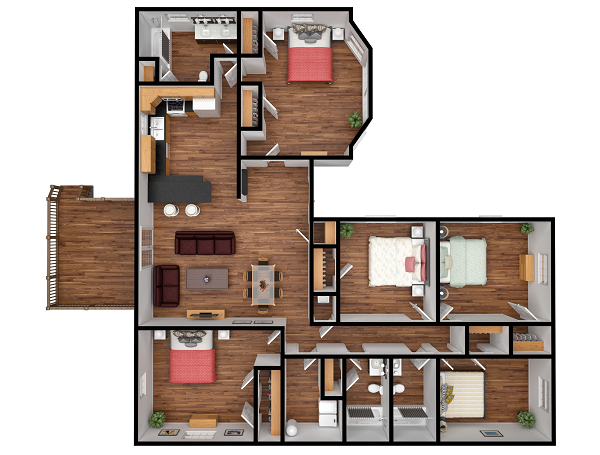 We usually leave  floorplan renderings  in the last spots of our lists, but then it can seem like we forget the importance they have, as they easily indicate the whole functionality of the building with just one picture. This is not the only floorplan rendering you'll see on this list!
